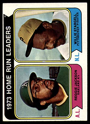 Baseball MLB 1974 Topps #202 Reggie Jackson/Willie Stargell Home Run Leaders EX Excellent