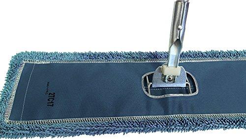 Dust Mop Kit 72'' : (1) 72'' Blue Microfiber Dust Mop, (1) 72'' Wire Dust Mop Frame & (1) Ergonomic Dust Mop Handle by Direct Mop Sales (Image #1)