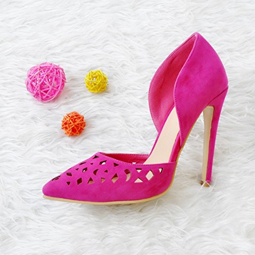 Heel D'orsay Femmes Kolnoo Style pink High Toe Handmade Pink Chaussures Pump Pointe 5cm 10 Prom FWU1zq