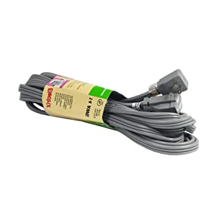 Electrix SPT-3 Heavy Duty 20ft 14/3 AWG Air Conditioner and Major Appliance Grounded Extension Cord Flat Cable UL