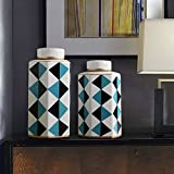 LXYFMS Blue and White Storage Tank Decoration Home Decoration 1 Pair Crafts