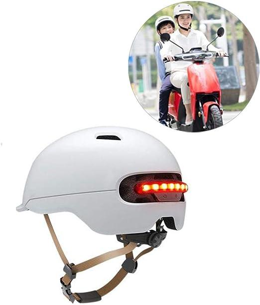 TOMATION - Casco de Bicicleta con LED para XIAOMI M365, Casco ...