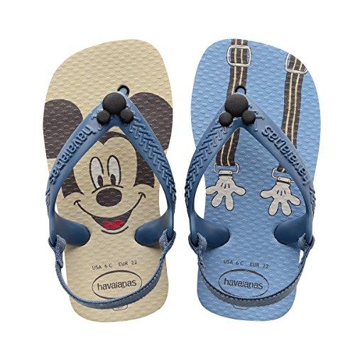 HavaianasBaby Disney Classics Sandal, Beige 23/24 BR/Toddler (9 M US) (Classic Thong Rubber)