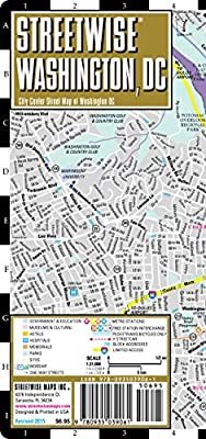Streetwise Washington DC Map - Laminated City Center Street Map of Washington, DC