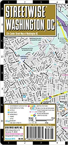 Streetwise Washington DC Map Laminated City Center Street Map of