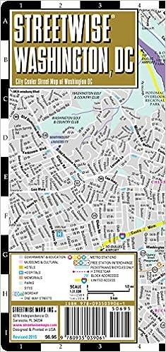 streetwise washington dc map laminated city center street map of washington dc streetwise maps 9780935039061 amazoncom books