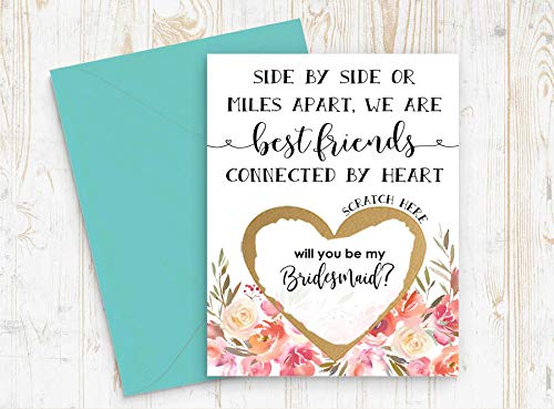 Amazon com: Best Friend Bridesmaid Proposal Scratch Off GOLD
