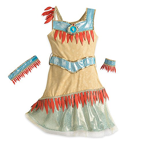 Disney Pocahontas Costume for Kids Size 7/8 Brown