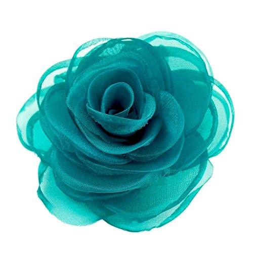 Merdia Women's Lovely Flower Hair Clip Rose Brooches -