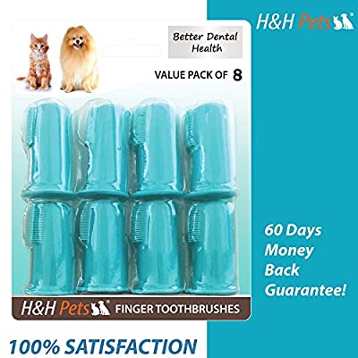 Professional Dog Toothbrush and Cat Toothbrush by H&H Pets   Dog Finger Toothbrush, Cat Toothbrush