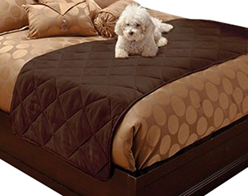 Innovative Textile Solutions Suede Bed Protector, King, Chocolate