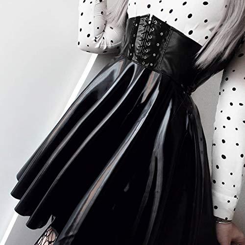 POIUY Falda Faldas para Mujer Vendaje gótico Harajuku Piel ...