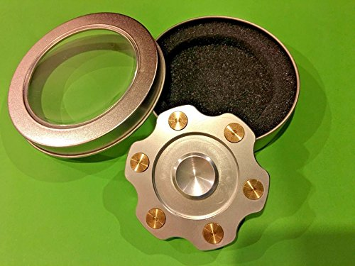 [G.MD NEW Silver Wheel Titanium Alloy Hand Fidget Spinner High Speed Toy Gift] (Homemade Kids Soldier Costumes)