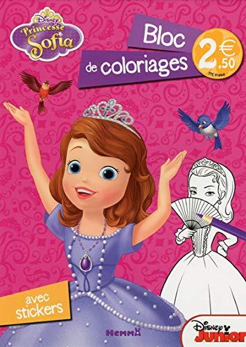 Princesse Sofia Bloc De Coloriages Avec Stickers Amazon Fr Disney Livres
