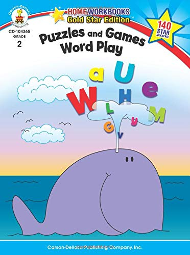 Puzzles and Games: Word Play, Grade 2: Gold Star Edition (Home Workbooks) from Carson-Dellosa