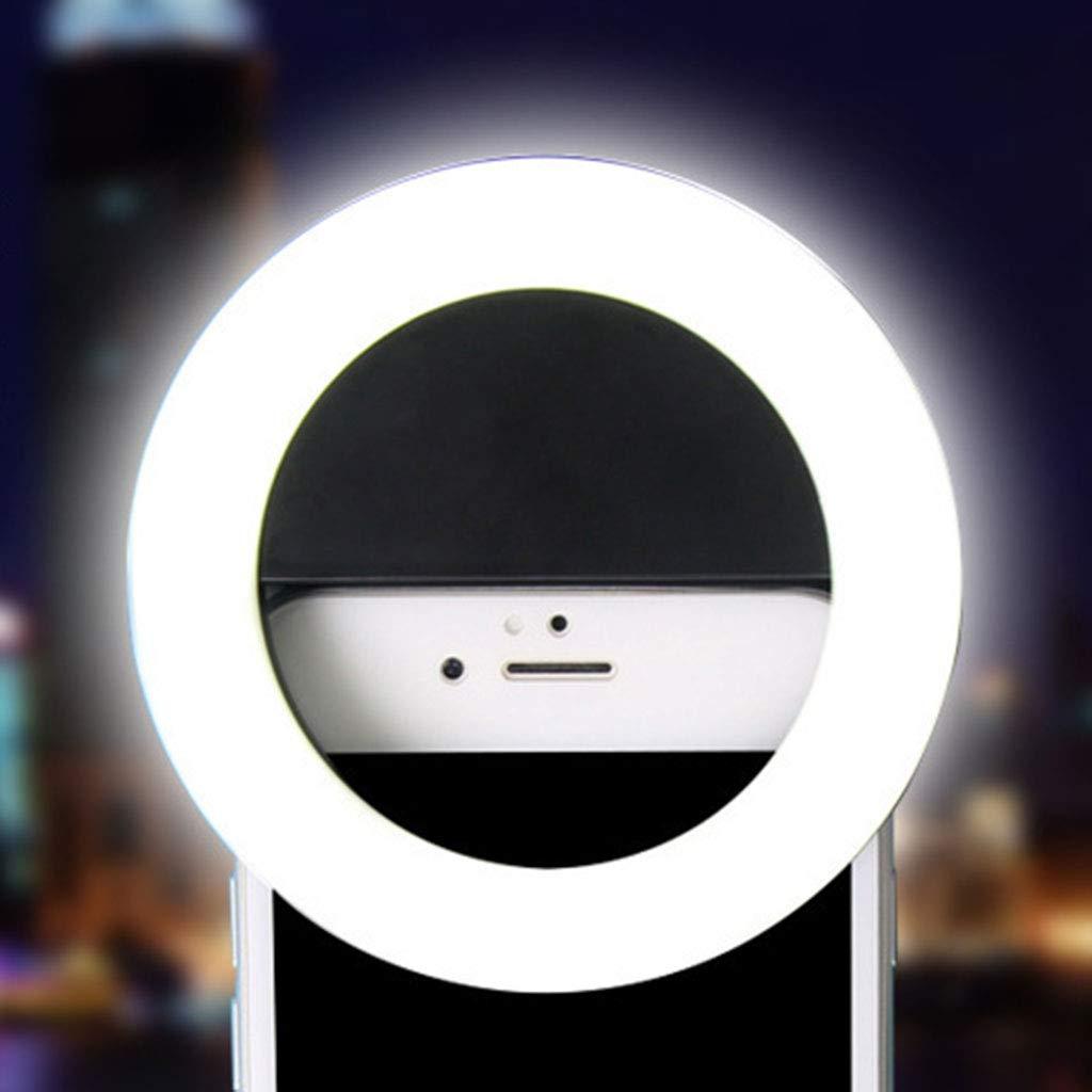 Anillo de luz para selfie recargable por USB, 36 ledes KunmniZ