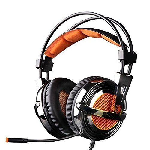 Sades SA928 Lightweight Professional Gaming Headse...