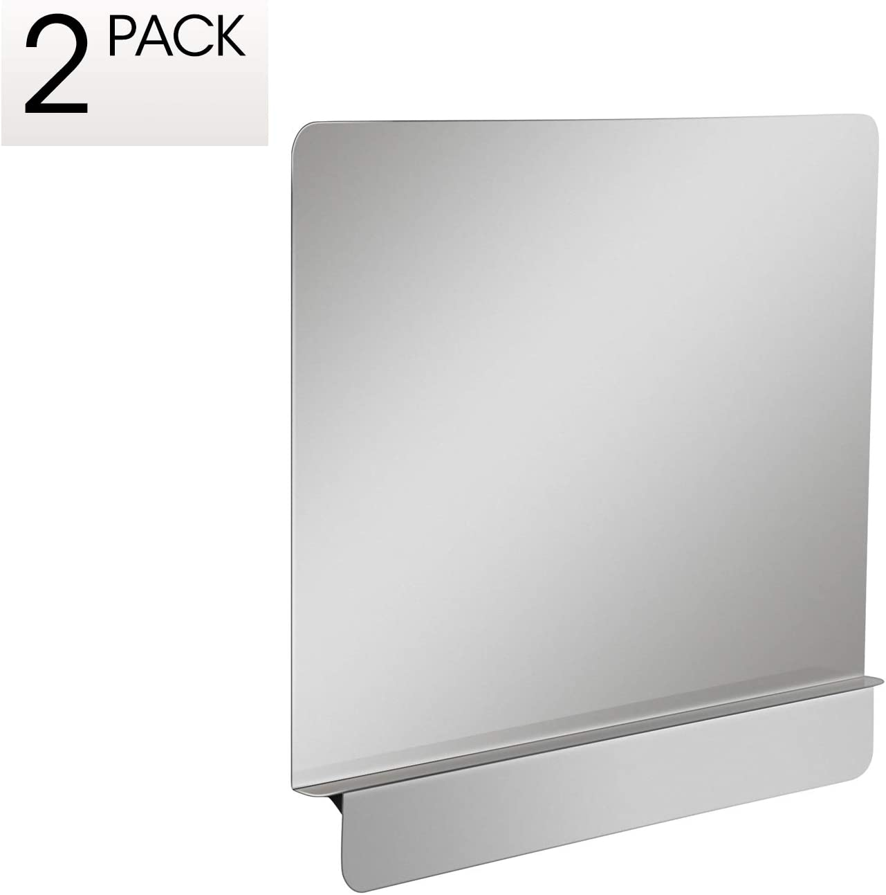 """Zipcase 2 packs Stainless Steel 20-1/2"""" W x 18"""" H Universal Side Splash for Commercial Fryers fitting 0.5"""" - 1"""" Side, Pack of 2"""