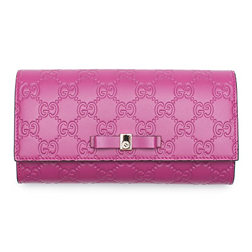 Gucci Wallet GUCCISSIMA BREE Fall/Winter 2015/2016 Peonia Purple Leather New