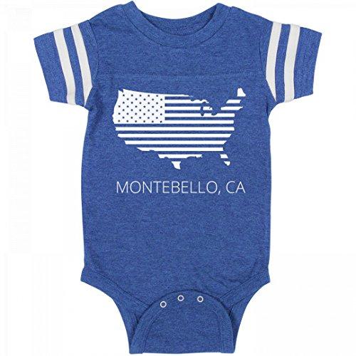 FUNNYSHIRTS.ORG July 4th USA Montebello, CA Pride: Infant Rabbit Skins Football - Ca Montebello