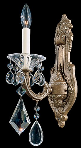 Schonbek 5069-83 Swarovski Lighting La Scala Wall Sconce, Florentine Bronze