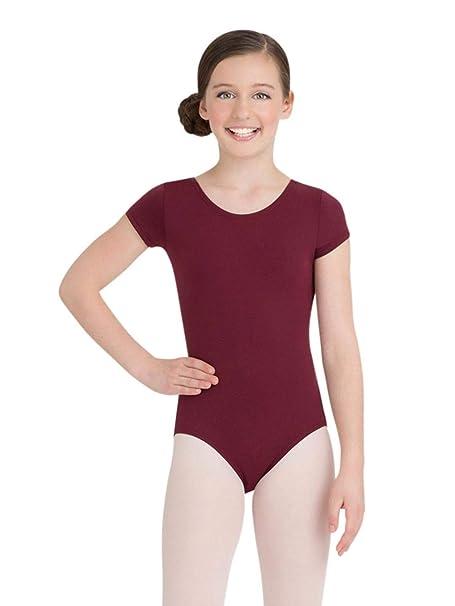 9f012fcf6ee1 Amazon.com : Capezio Girls' Short Sleeve Leotard | Child Dance Wear ...