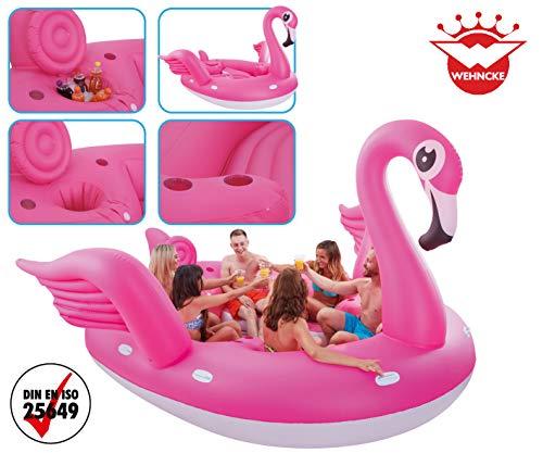 Unbekannt Flamingo - Colchoneta Hinchable para 6 Personas, diseño ...