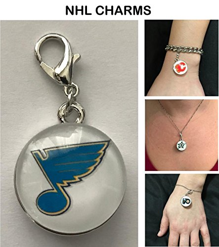 St. Louis Blues NHL Clip Charm for Bracelets, Necklaces, etc.