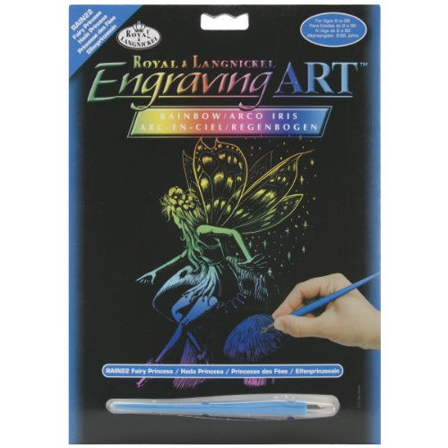 Engraving Royal Art (Royal Brush Rainbow Foil Engraving Art Kit, 8 by 10-Inch, Fairy Princess)