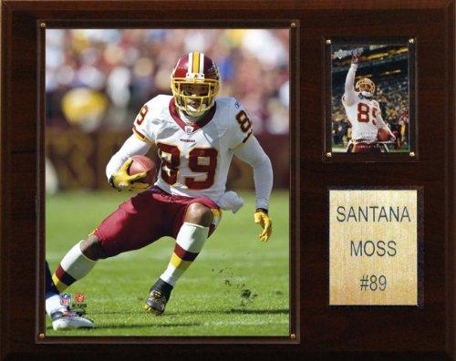 (NFL Santana Moss Washington Redskins Player Plaque)