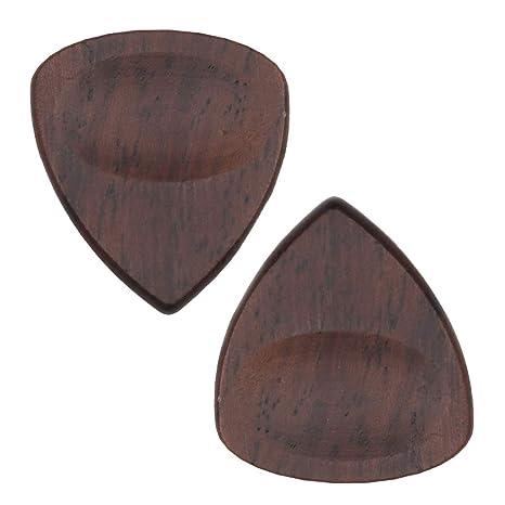 2x Púas De Guitarra Acústica De Madera Para Guitarra Eléctrica ...