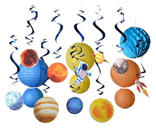 Paper Jazz Outer space theme party supply kit swirl party decoration planet birthday -