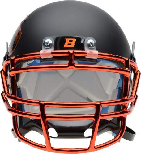 Boise State Broncos Schutt Black Matte Mini Football Helmet College Mini Helmets