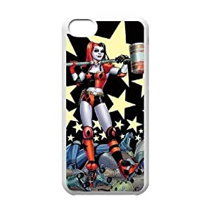 Personalized Durable Cases Harley Quinn For iPhone 5C Cell Phone Case White Rodbe Protection Cover