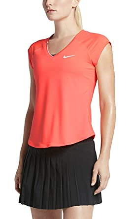 43236fdf Image Unavailable. Image not available for. Color: Nike Women's Court Pure  Tennis Top ...
