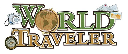Jolees Boutique Title Wave Dimensional Stickers, World Traveler ()