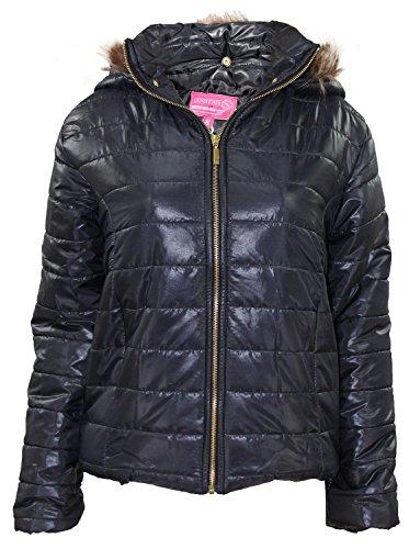 Nuevas señoras Celeb Inspirado Puffer Coat desmontable Hood Casual Womens Jacket Black