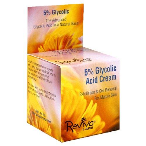 REVIVA Labs 5% гликолевая кислота крем для обеих старения и проблемной кожи, 1,5 унции (42 г)