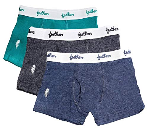 (Feathers Boys Cotton Strech Tagless Boxer Underwear - (3/pack))