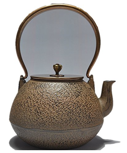 (RUIKA Japanese tetsubin Cast Iron Teapot pure Khaki Kettle 1200ml 40)