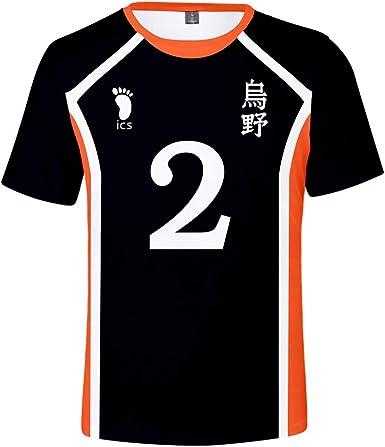IFITBELT Hombre Mujer Anime Haikyu!! Camisetas Cosplay Volleyball Club T-Shirts Sport tee Shirt