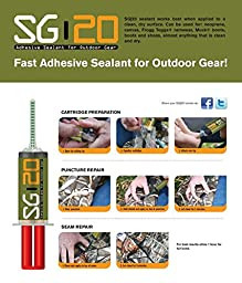 SG-20 Adhesive Repair Kit for Waders, Boots, and Outdoor Gear (20cc) w/ Plunger and 3 Contouring Tips