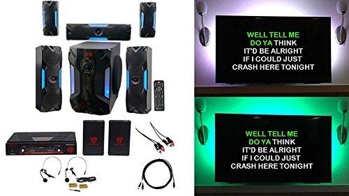 "Rockville Bluetooth Home Theater Karaoke Machine System w/8"""