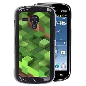 A-type Arte & diseño plástico duro Fundas Cover Cubre Hard Case Cover para Samsung Galaxy S Duos S7562 (Craft Game Computer Mine Blocks Pc)