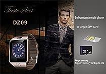 Phoneix Bluetooth Smart Wrist Watch,DZ09 Smartwatch With TF & SIM card Slot for Smartphones Gold