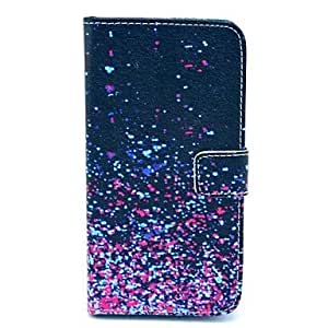 LZX Meteor Shower Tower Pattern PU Leather Case with Card Slot and Stand for Samsung Galaxy S5mini