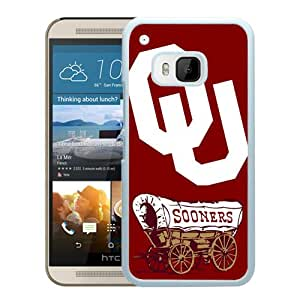 Fashionable And Unique Designed Case For HTC ONE M9 Phone Case With NCAA Big 12 Conference Big12 Football Oklahoma Sooners 7 White