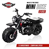 (US) Monster Moto MM-B212-RB Gas Mini Bike with Front Suspension, Assembled in the USA (212CC 7.5HP Black/Red Classic)