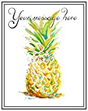 18 Pineapple Custom Gift Tags, Your Own Wording