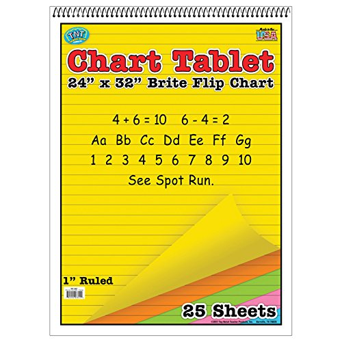 Top Notch Teacher TOP3821BN Chart Tablet 24X32 Assorted Ruled, MultiPk 2 Each